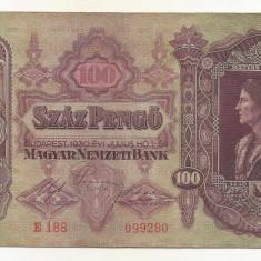 UNGARIA  100  PENGO  1930   [4]  P-98  ,  XF