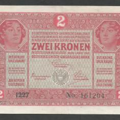 AUSTRIA  AUSTRO-UNGARIA 2  KRONEN KORONA COROANE  1917  [11]   P-21