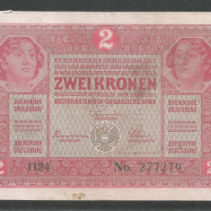 AUSTRIA  AUSTRO-UNGARIA 2  KRONEN KORONA COROANE  1917  [21]   P-21