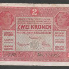 AUSTRIA  AUSTRO-UNGARIA 2  KRONEN KORONA COROANE  1917  [14]   P-21