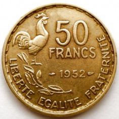 FRANTA, 50 FRANCS 1952, COCOSUL GALIC, URIASA 27mm., Europa, Bronz