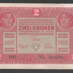 AUSTRIA  AUSTRO-UNGARIA 2  KRONEN KORONA COROANE  1917  [20]   P-21