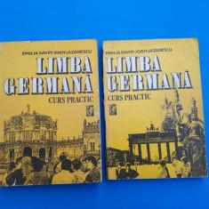 LIMBA GERMANA CURS PRACTIC = Emilia Savin = 2 volume an 1992 - Curs Limba Germana