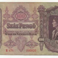 UNGARIA  100  PENGO  1930   [2]  P-98  ,  XF+