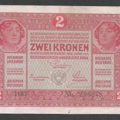 AUSTRIA  AUSTRO-UNGARIA 2  KRONEN KORONA COROANE  1917  [17]   P-21