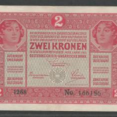 AUSTRIA  AUSTRO-UNGARIA 2  KRONEN KORONA COROANE  1917  [18]   P-21