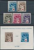1941 Romania,LP 145,LP 146- Crucea Rosie,serie si colita nedantelata-MNH, Nestampilat