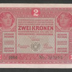 AUSTRIA  AUSTRO-UNGARIA 2  KRONEN KORONA COROANE  1917  [22]   P-21