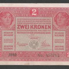AUSTRIA  AUSTRO-UNGARIA 2  KRONEN KORONA COROANE  1917  [23]   P-21