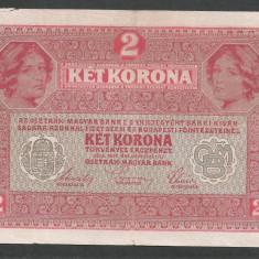 AUSTRIA  AUSTRO-UNGARIA 2  KRONEN KORONA COROANE  1917  [15]   P-21