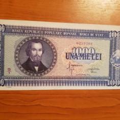 BANCNOTA 1000 LEI, ANUL 1950, BANCNOTE ROMANESTI, STARE IMPECABILA - Bancnota romaneasca