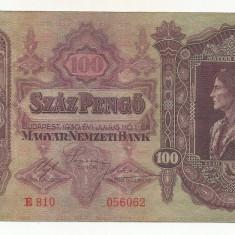 UNGARIA  100  PENGO  1930   [5]  P-98  ,  XF