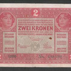 AUSTRIA  AUSTRO-UNGARIA 2  KRONEN KORONA COROANE  1917  [19]   P-21