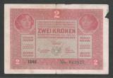 AUSTRIA  AUSTRO-UNGARIA 2  KRONEN KORONA COROANE  1917  [27]   P-21