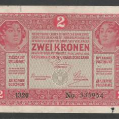 AUSTRIA  AUSTRO-UNGARIA 2  KRONEN KORONA COROANE  1917  [24]   P-21
