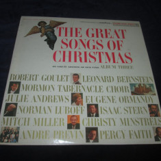 Various - The Great Songs Of Christmas _ vinyl,LP _ Columbia(SUA), VINIL