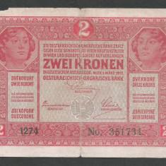 AUSTRIA  AUSTRO-UNGARIA 2  KRONEN KORONA COROANE  1917  [26]   P-21