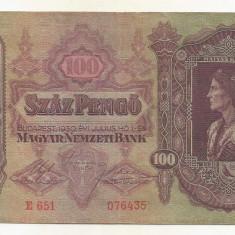 UNGARIA  100  PENGO  1930   [6]  P-98  ,  XF