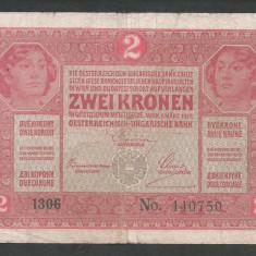 AUSTRIA  AUSTRO-UNGARIA 2  KRONEN KORONA COROANE  1917  [13]   P-21