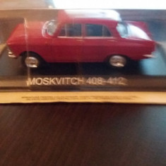 Macheta moskvitch 408-412 + revista masini de legenda nr.10 - Macheta auto, 1:43