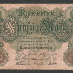 GERMANIA 50 MARK MARCI 1910 [1] P-41 - bancnota europa