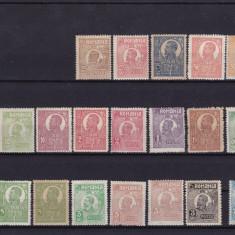 ROMANIA 1920/22 LP 72 LOT TIMBRE FERDINAND - UZUALE - Timbre Romania, Nestampilat