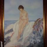 Tablou nud - Pictor strain, Acuarela, Avangardism