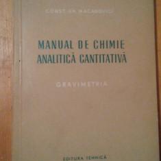 Manual de chimie analitica cantitativa-gravimetria-Constantin Gh.Macarovici