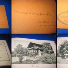 Album vechi foto Pensiune in regiune montana Elvetia pt tinere fete. Pensionnat.