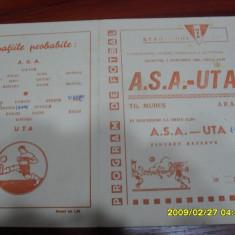 Program UTA - ASA TG. Mures - Program meci