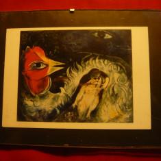 Tablou cu reproducere Cocosul indragostit de m.Chagall , dim. = 14x11 cm