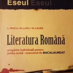 L. Paicu Literatura Romana# - Teste Bacalaureat art
