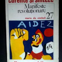 Mario de Micheli – Manifeste revolutionare