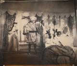 Fotografie afis de dimensiuni mari : 63 x 55 cm , anii 50 , piesa de teatru