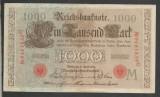 GERMANIA  1000 1.000  MARK MARCI  1910  [16]  Stampila Rosie , Litera M ,  XF