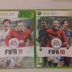 LOT 2 Jocuri FIFA 10 11 - XBOX 360 [Second hand] - Jocuri Xbox 360, Sporturi, 18+, Single player