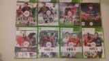 LOT 8 Jocuri  FIFA 10 11 12 13 14 15 EURO 2008  -  XBOX 360 [Second hand], Sporturi, 18+, Single player