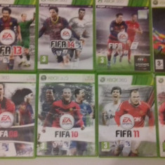 LOT 8 Jocuri FIFA 10 11 12 13 14 15 EURO 2008 - XBOX 360 [Second hand] - Jocuri Xbox 360, Sporturi, 18+, Single player