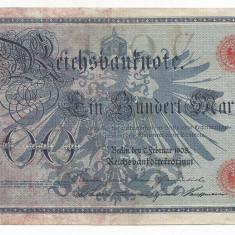 GERMANIA 100 MARK MARCI 7 Februarie 1908 [3] VF - bancnota europa