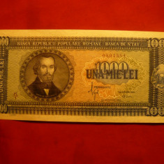 Bancnota 1000 lei 1950 N.Balcescu, cal. Necirculat - Bancnota romaneasca