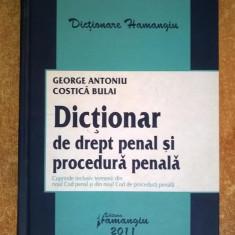 G. Antoniu, C. Bulai - Dictionar de drept penal si procedura penala