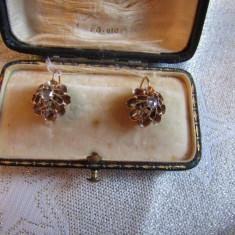 LICHIDEZ COLECTIE- CERCEI ANTICI CU DIAMANTE - Cercei cu diamante