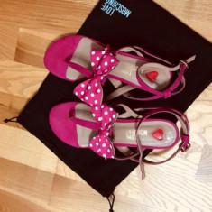 Sandale Love Moschino - Sandale dama, Culoare: Fuchsia, Marime: 38