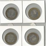 (B.D.G.) LOT 4 X 10 RUBLE, BIMETAL, TAXE GRATIS, Europa