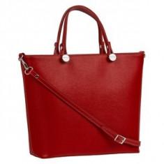 Brastini La Giulia piele geanta de mana rosie - Geanta Dama