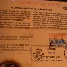 400 DE ANI DE LA FONDAREA LOCALITATII- BUENOS AIRES-1 UNCIE ARGINT- - Medalii Romania