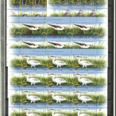 Romania MNH 2009 - Pasari Delta Dunarii -minicoli- LP 1827x - ultimul - Timbre Romania, Nestampilat
