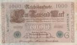 GERMANIA 1.000 marci 1910 - stampila verde VF+!!!