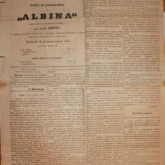 Ziarul Albina , nr. 6 , 1870 , Budapesta , in limba romana , Director V. Babes
