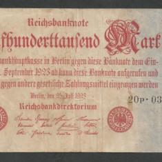 GERMANIA  500000 500.000   MARCI  MARK  1923 [1] P-92/2  ,  VF